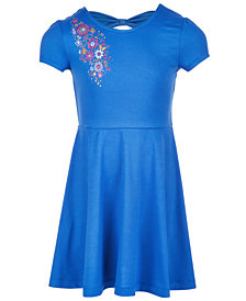 Epic Threads Little Girls Bow-Back Dress, Created for Macy's
