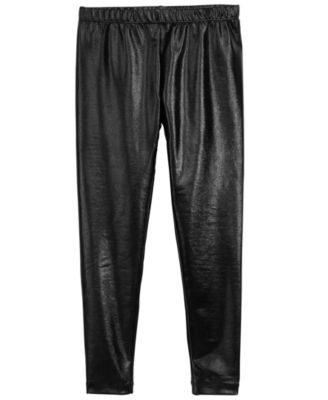 Big Girls Faux Leather Leggings, Created for Macy's