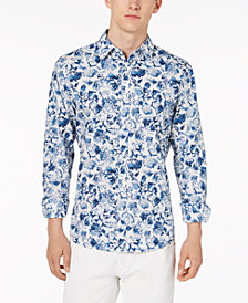 Michael Kors Men's Corby Slim-Fit Tropical-Print Shirt