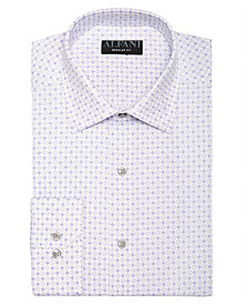 AlfaTech by Alfani Men's Classic/Regular Fit Performance Stretch Circle & Geometric Print Dress Shirt, Created For Macy's