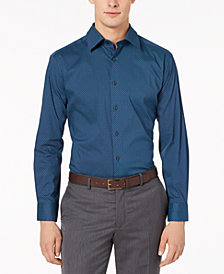 AlfaTech by Alfani Men's Fitted Performance Stretch Dot Seven Dress Shirt, Created For Macy's