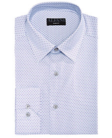 AlfaTech by Alfani Men's Slim-Fit Performance Stretch Diamond Eye Dress Shirt, Created For Macy's