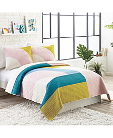 Ampersand by Makers Collective Modshapes Cotton Reversible 3-Pc. King Quilt Set
