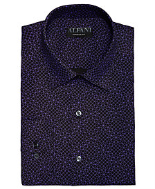 AlfaTech by Alfani Men's Athletic Fit Performance Stretch Folded Cube Dress Shirt, Created For Macy's