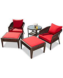 Olympian 5-Pc. Outdoor Patio Chair Set, Quick Ship