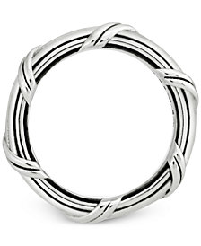 Peter Thomas Roth Overlap Band in Sterling Silver 4MM