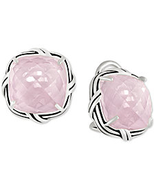Peter Thomas Roth Rose Quartz Stud Earrings (16 ct. t.w.) in Sterling Silver