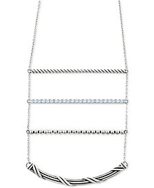 "Peter Thomas Roth White Topaz 18"" Ladder Necklace (9/10 ct. t.w.) in Sterling Silver"