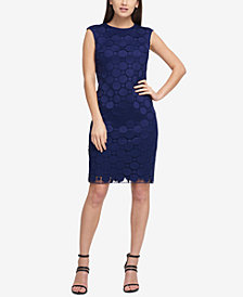 DKNY Dot-Lace Sheath Dress, Created for Macy's