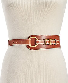 MICHAEL Michael Kors Double-Buckle Leather Belt