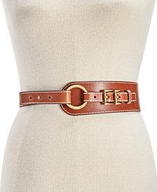 MICHAEL Michael Kors Double-Buckle Leather Belt