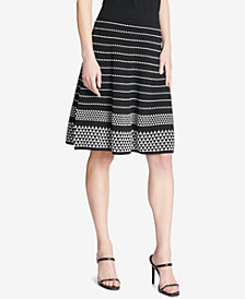 Calvin Klein Textured A-Line Sweater Skirt