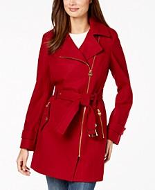 Asymmetrical Belted Coat