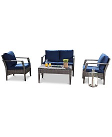 Nhandi 4-Pc. Outdoor Patio Seating Set, Quick Ship