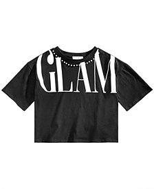 Beautees Big Girls Cropped Glam T-Shirt