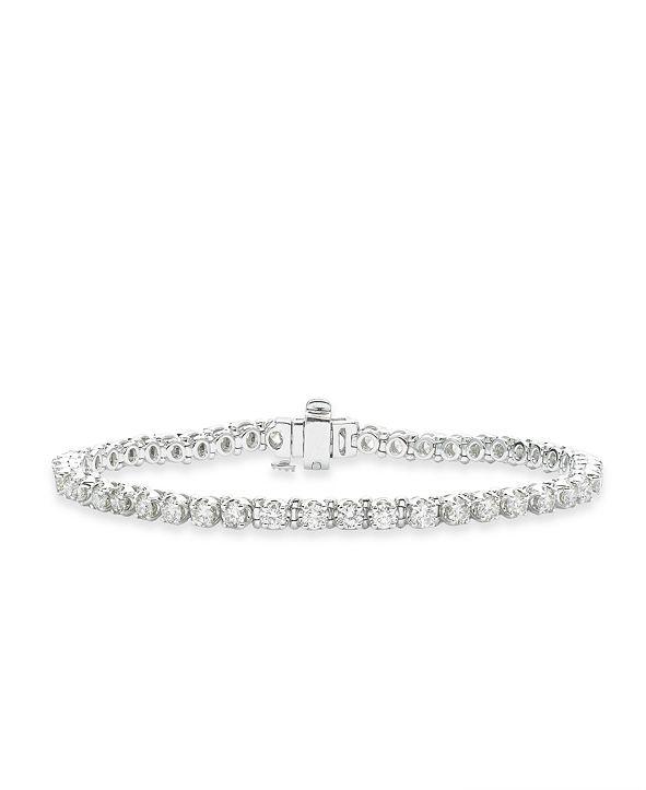 Macy's Diamond Tennis Bracelet (4 ct. t.w.) in 14k White Gold