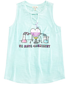 Monteau Big Girls Keyhole Chemistry Sleeveless T-Shirt