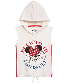 Disney Big Girls Sleeveless Minnie Mouse Hoodie