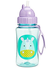 Unicorn Zoo Straw Water Bottle