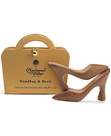 Charbonnel et Walker Gold Handbag & Sea Salt Caramel Chocolate Shoes