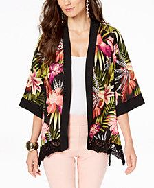 Thalia Sodi Lace-Trim Kimono, Created for Macy's