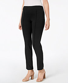 JM Collection Petite Pull-On Ankle Pants, Created for Macy's
