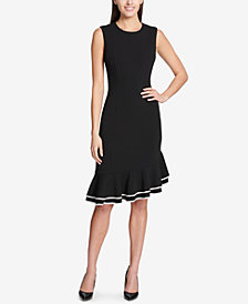 Tommy Hilfiger Flounce-Hem Scuba Dress
