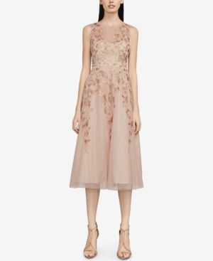 Bcbgmaxazria Eugene Butterfly-Embroidered Dress 6522532
