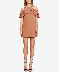BCBGMAXAZRIA Chelsey Ruffled Crisscross Dress
