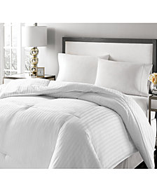 Royal Luxe Luxury Damask Stripe Down & Feather Twin Comforter