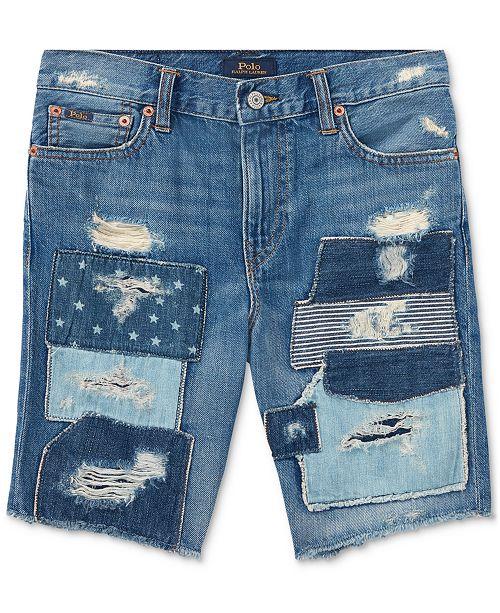3cc8445398 Polo Ralph Lauren Slouch Slim-Fit Cotton Denim Shorts, Big Boys ...