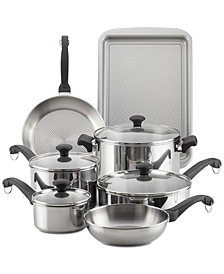 Farberware Classic Traditions Stainless Steel 12-Pc. Cookware Set