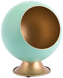 Zuo Round Green Metal Small Planter