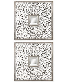 Uttermost Colusa Squares Silver Mirrors, Set of 2