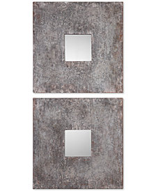 Uttermost Altha Burnished Square Mirrors, Set of 2