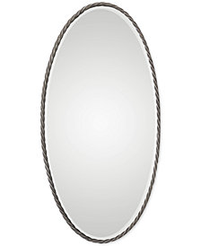 Uttermost Kateel Twisted Iron Oval Mirror