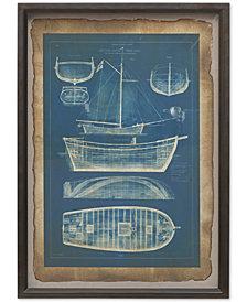 Madison Park Ahoy Framed Antique Style Art