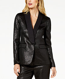 Zoe by Rachel Zoe One Button Shimmer Blazer, Created For Macy's