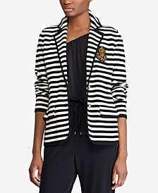 Lauren Ralph Lauren Striped Bullion Knit Blazer