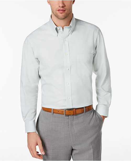2659c26879 Club Room Men's Slim-Fit Performance Oxford Dress Shirt, Created for ...