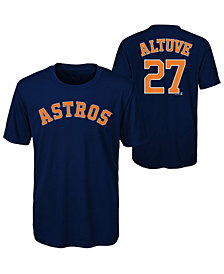 Majestic Jose Altuve Houston Astros Poly Player T-Shirt, Big Boys (8-20)