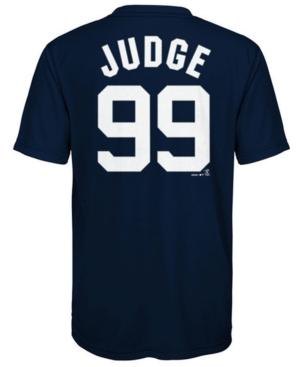 Majestic Aaron Judge New York Yankees Poly Player T-Shirt, Big Boys (8-20)