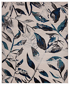 KM Home Steelo Leaves Turquoise 5' x 8' Area Rug
