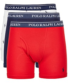 Men's 3-Pk. Classic Cotton Boxer Briefs