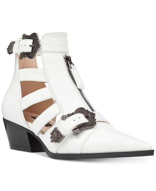 5ea1c133e Nine West Carrillo Cutout Buckle Booties & Reviews - Boots - Shoes ...