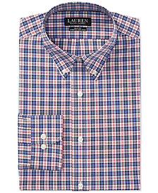 Lauren Ralph Lauren Men's Slim Fit Plaid Cotton Dress Shirt