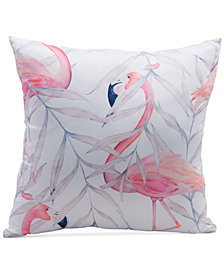 "Zuo Mr. Flamingo Multicolor 17.7"" x 17.7"" Decorative Pillow"