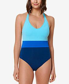 Bleu by Rod Beattie Colorblocked One-Piece Swimsuit