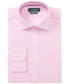 Lauren Ralph Lauren Men's Classic Fit Gingham Cotton Dress Shirt