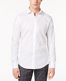 BAR III Men's Houndstooth Slim-Fit Shirt, Created for Macy's